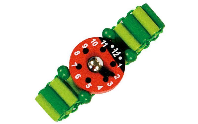Bino Dřevěné hodinky zelené