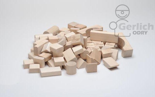 Dřevěné kostky 50 natur