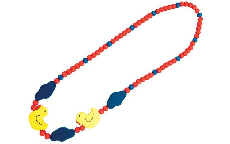 Dřevěný náhrdelník - kachnička