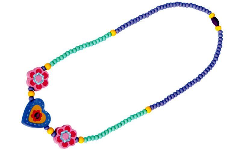 Náhrdelník - fialové srdíčko