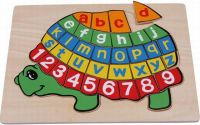Písmenkové puzzle Želva