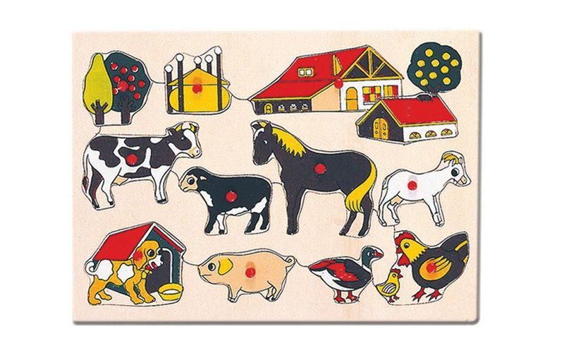 Bino Puzzle - domácí zvířata u statku
