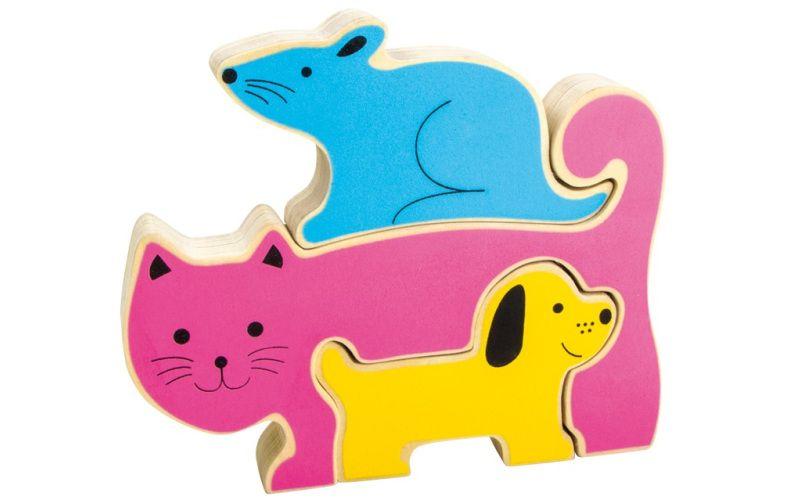 Puzzle pes, kočka & myš