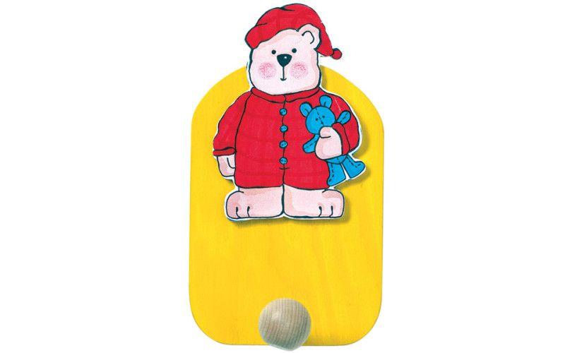 Věšák medvěd v pyžamu - 1 háček