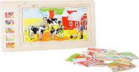 Vrstvené puzzle Farma