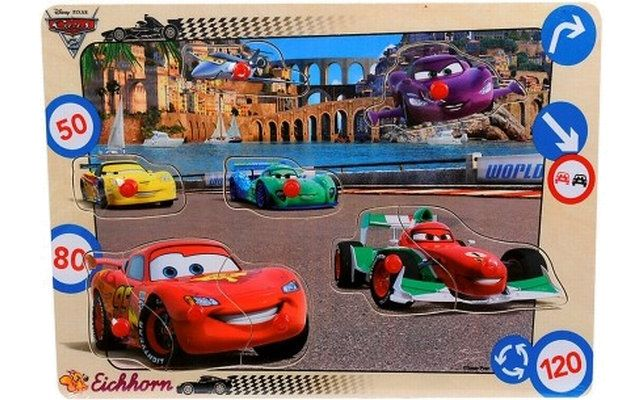 Cars 2 Puzzle s postavičkami