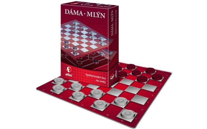Efko Dáma a Mlýn - společenská hra na cesty