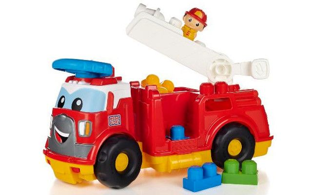Mega Bloks Hasičské auto s kostkami Finn