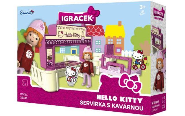 IGRÁČEK & HELLO KITTY Servírka s kavárnou a doplňky