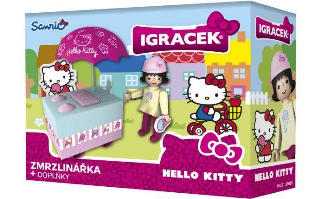 IGRÁČEK & HELLO KITTY Zmrzlinářka s doplňky