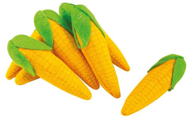 Kukuřičný klas z plsti 7ks