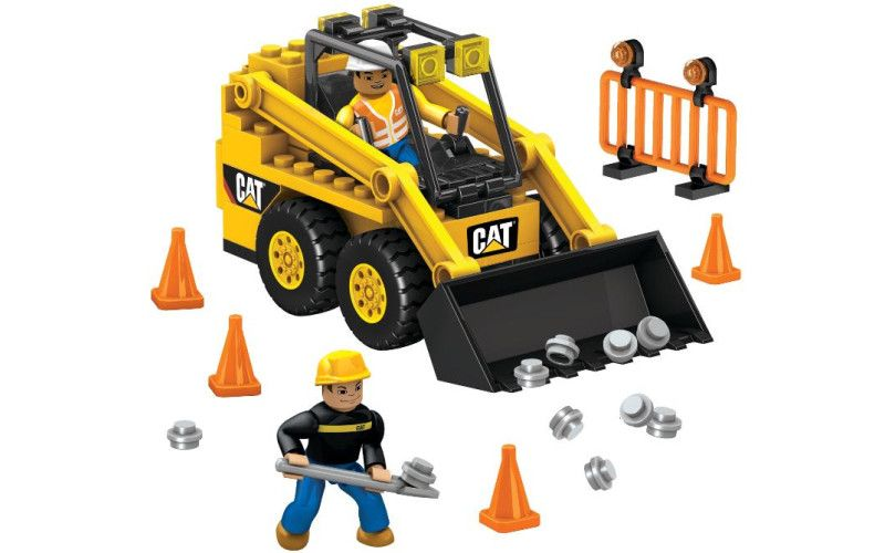 Mega Bloks Micro CAT Stavební stroje stavebnice Bobcat