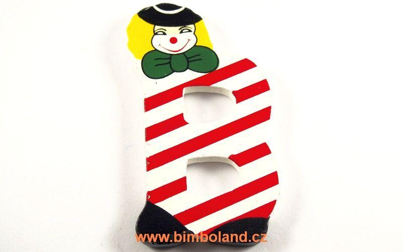 Písmeno B s klaunem