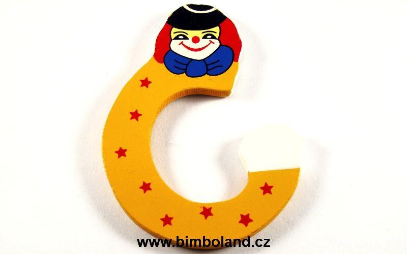 Písmeno C s klaunem
