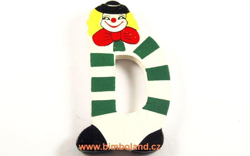 Písmeno D s klaunem