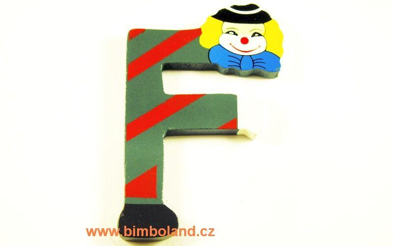 Písmeno F s klaunem