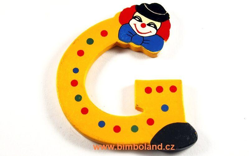 Písmeno G s klaunem