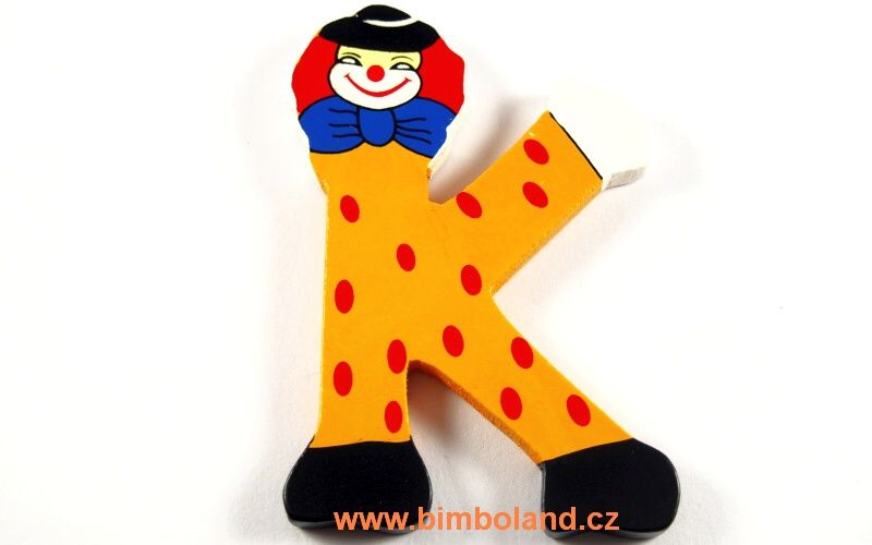 Písmeno K s klaunem