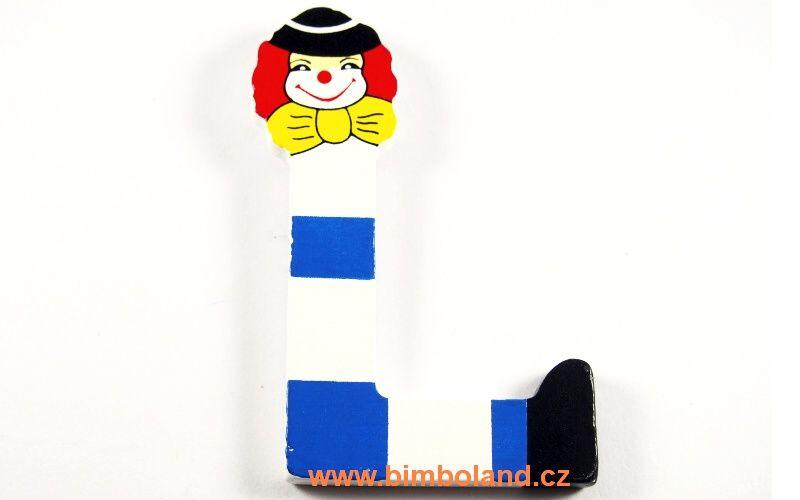 Písmeno L s klaunem
