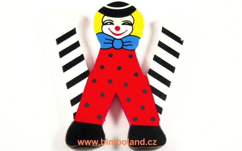 Písmeno W s klaunem