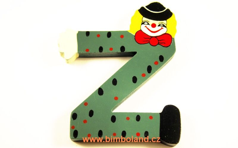 Písmeno Z s klaunem
