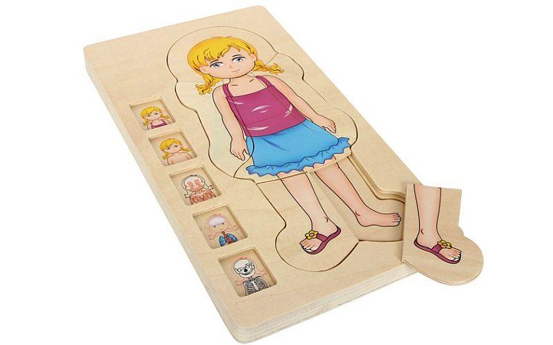 Puzzle Anatomie Dívka