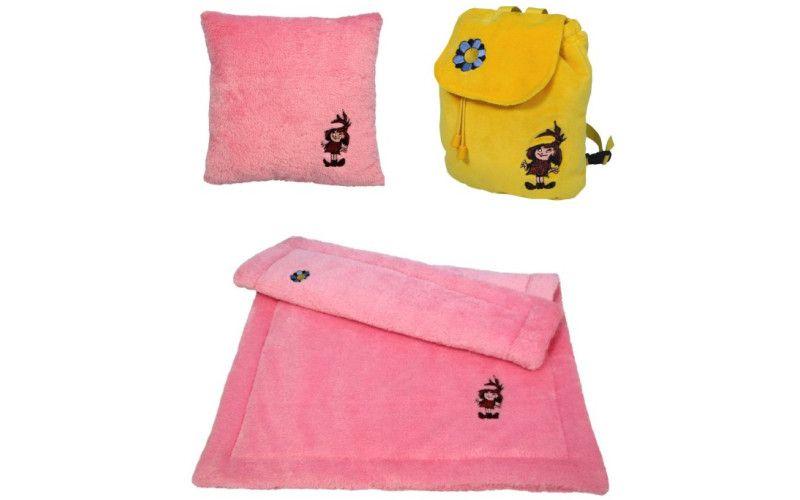 Sada deka + polštář + batůžek Malá čarodějnice