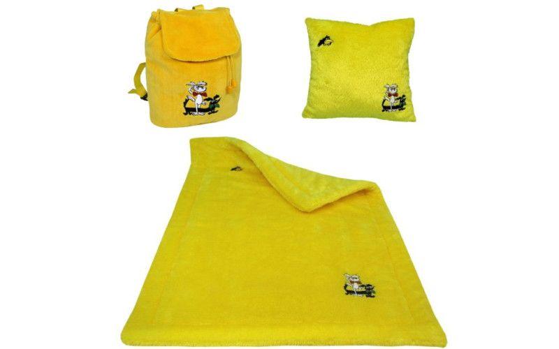 Sada deka + polštář + batůžek Štaflík a Špagetka žlutý