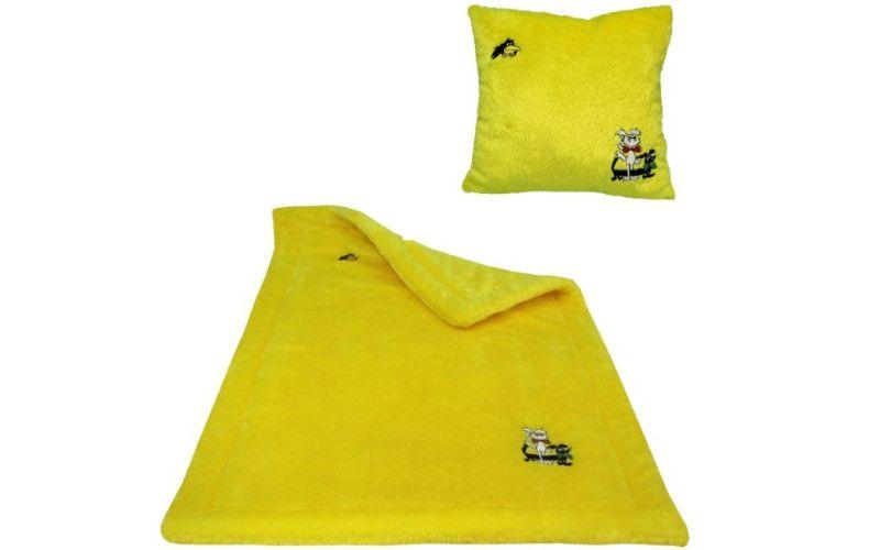 Sada deka + polštář Štaflík a Špagetka žlutý
