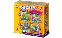 """Soubor puzzle 3v1 """"Moje rodina"""""""
