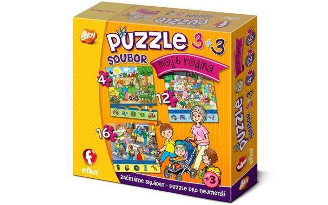Soubor puzzle 3v1 - Moje rodina