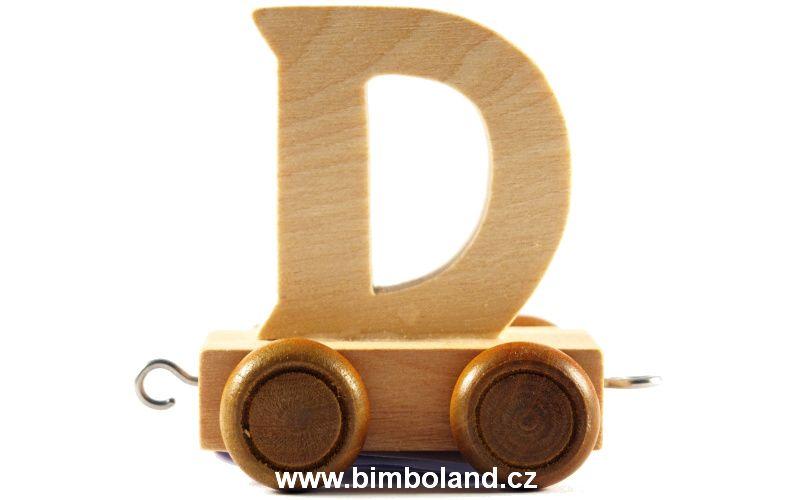 Vagónek D - hnědá kolečka