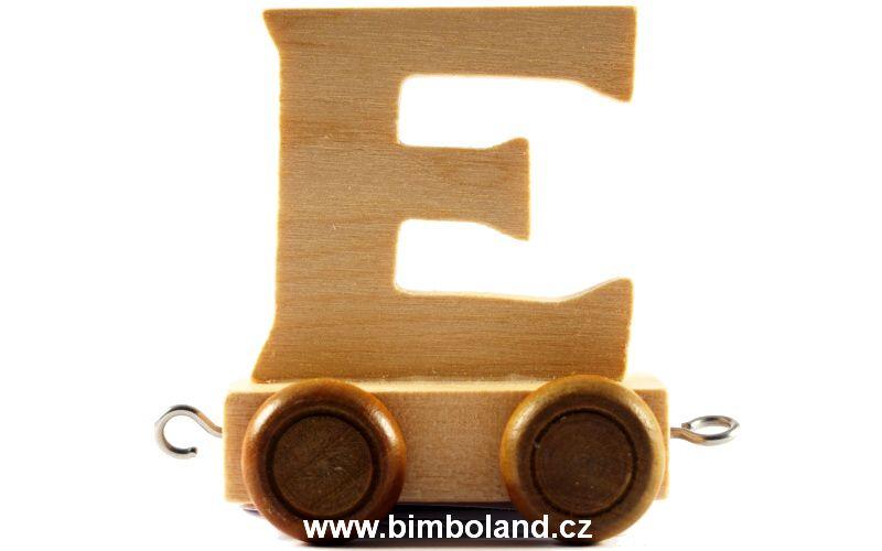 Vagónek E - hnědá kolečka