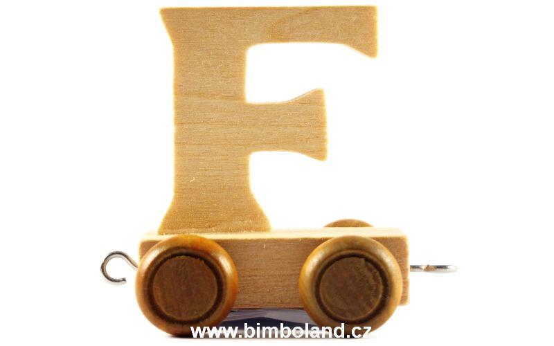 Vagónek F - hnědá kolečka