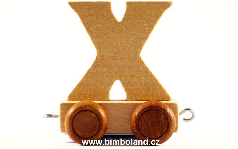 Vagónek X - hnědá kolečka
