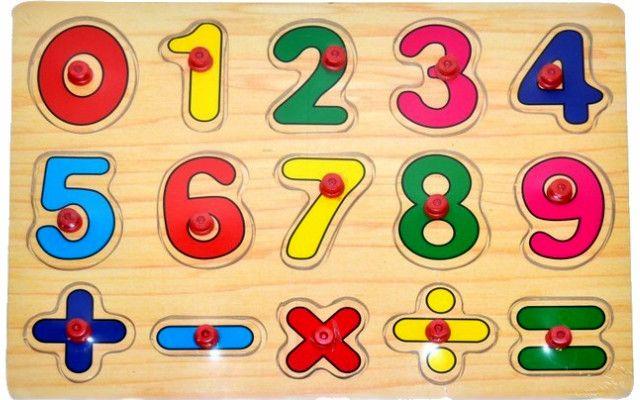 Wiky Vkládačka dřevěná 29 x 21,5 cm - Počítání