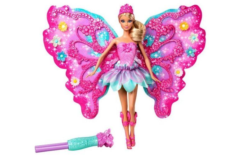 Barbie Květinová víla růžová