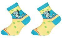 Dětské bavlněné ponožky DINOS - žluté