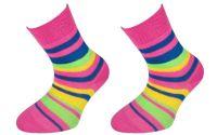 Dětské bavlněné ponožky JANKA - tmavě růžové