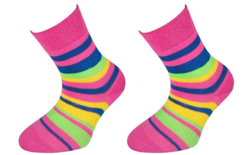 Trepon Dětské bavlněné ponožky JANKA - tmavě růžové Velikost 22-23