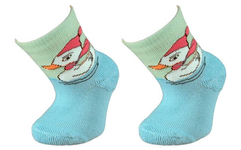 Dětské bavlněné ponožky KAČKA - modré