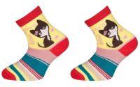 Dětské bavlněné ponožky MINDA - červené