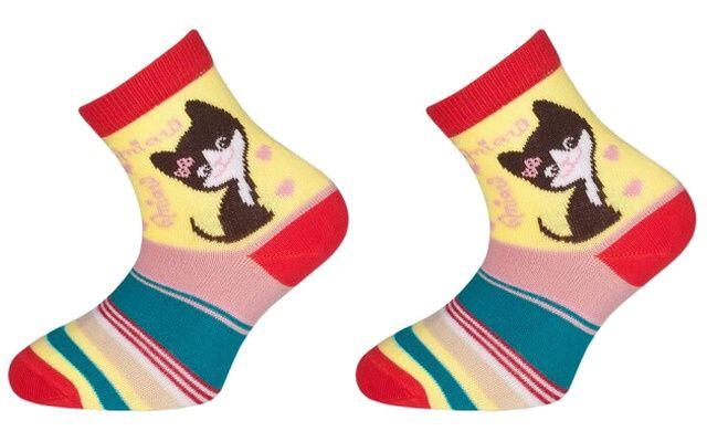 Trepon Dětské bavlněné ponožky MINDA - červené Velikost 22-24