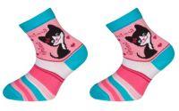 Dětské bavlněné ponožky MINDA - tyrkysové