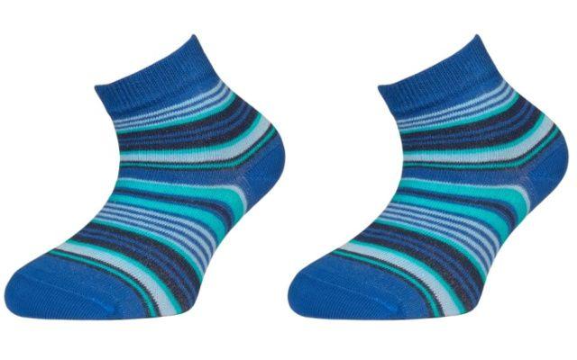 Trepon Dětské kotníčkové ponožky ZIRKA - modré Velikost 22-23