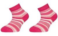 Dětské kotníčkové ponožky ZIRKA - růžové