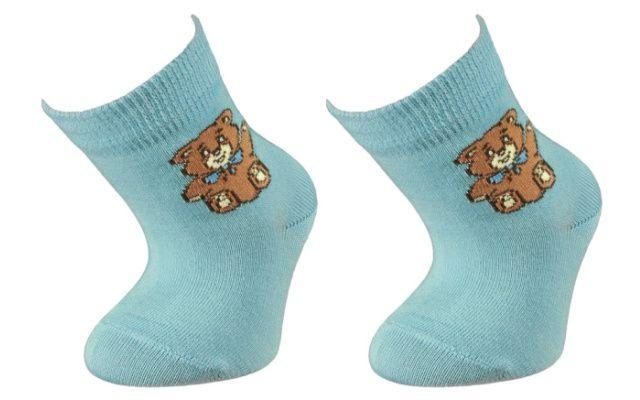 Kojenecké bavlněné ponožky Ferda - modré
