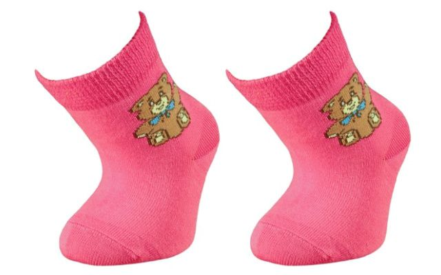 Trepon Kojenecké bavlněné ponožky FERDA - růžové Velikost 13-15