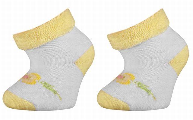 Kojenecké termo ponožky Anička - žluté