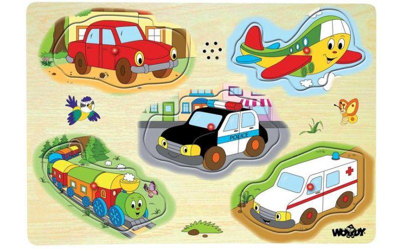 Woody Muzikální puzzle Dopravní prostředky